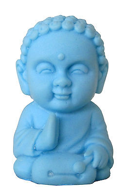 Pocket Buddha Harmony Blue Buddhism Figurine Toy