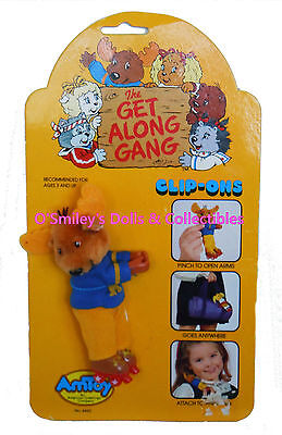 Vintage 1984 Agc The Get Along Gang Clip On Montgomery Good News Moose 4442 New