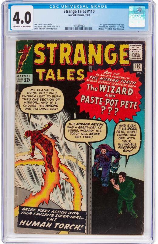 Strange Tales #110 CGC 4.0 1963 1st Doctor Strange! Avengers! H8 121 cm clean