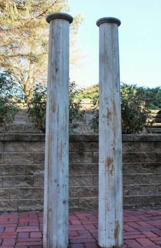"""Pair of Antique Architectural Salvage Load Bearing Porch Columns 73"""" Tall"""