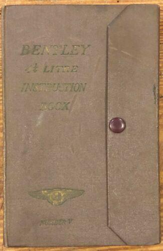 Vintage Bentley 4 1/4 Litre Running Maintenance Instruction Book Number V 5 Car