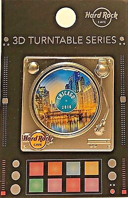 Hard Rock Cafe Chicago Pin Turntable Series 3D 2018 HRC LE NEW # 98445