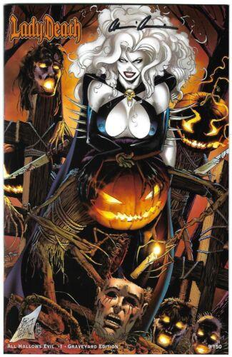 Lady Death All Hallows Evil 1. Graveyard Edition. Balent Cover.