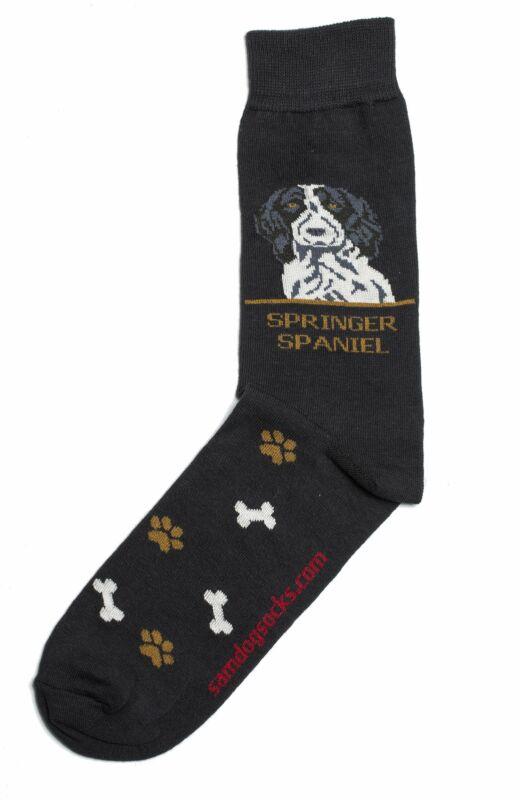 Springer Spaniel Black Dog Socks Mens