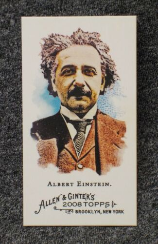 Albert Einstein ScARcE BAZOOKA back 2008 Topps Allen & Ginter SERIAL #