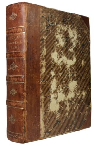 Odd Fellows 1851-52 Rare Bound Volume of IOOF Newspapers, Mirror of the Times NY