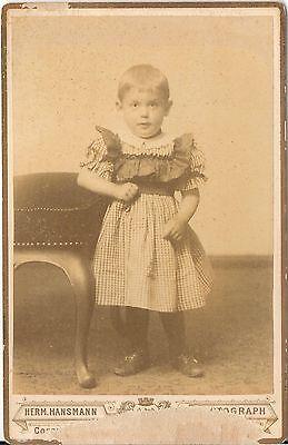 CAB photo Niedliches kleines Kind - 1880er