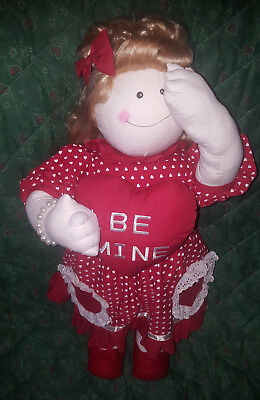 """XL Peek A Boo """"Be Mine"""" Valentines 27"""" Stuffed Baby Doll Holiday Decoration 2001 for sale  Dothan"""