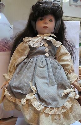 Porcelain Doll by Dynasty Doll Collection - NATASHA - Bisque and Cloth Body