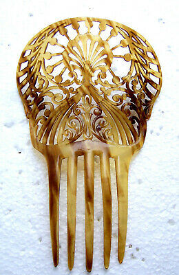 Victorian Wigs, Hair Pieces  | Victorian Hair Jewelry Spanish style Victorian hair comb celluloid faux tortoiseshell AS FOUND $50.00 AT vintagedancer.com