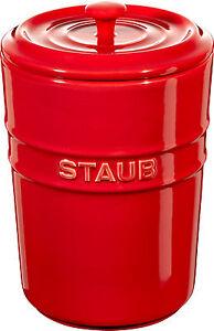 Staub-Ceramica-aufbewahrungsgefas-Almacenamiento-Rendondo-Rojo-Cereza-1l