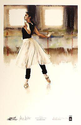 "GLYNIS BARNES-MELLISH ""Leticia"" muller BALLET SGD LTD! SIZE:63cm x 45cm NEW RARE"