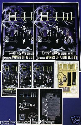 HIM 2006 Dark Light Original Promo Posters and Handbills Lot