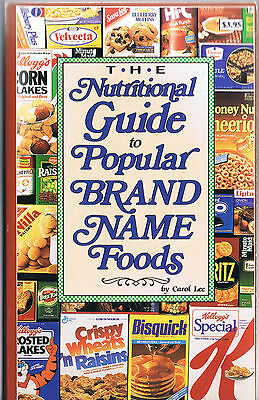 The Nutritional Guide to Popular Brand Name Foods-Paperback-Free Shipping!!