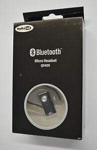 new quikcell ultra light small universal bluetooth wireless headset q9400 black. Black Bedroom Furniture Sets. Home Design Ideas