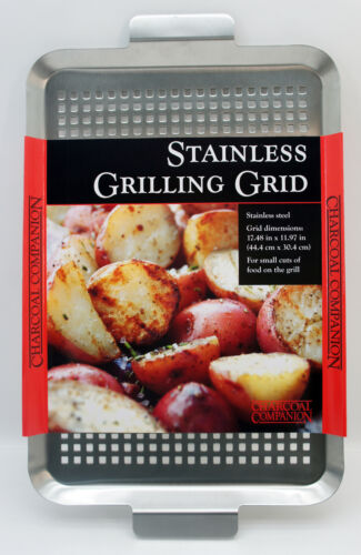Charcoal Companion Stainless Grilling Grif Grill Platte 44x30 cm