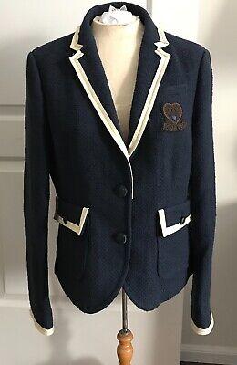 COACH Classic Navy Blue Blazer Jacket CREST Grosgrain Trim Business/Casual NWT Classic Tailored Blazer