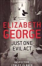 JUST ONE EVIL ACT Elizabeth George ~ Large 1st Ed SC 2013 Perth Region Preview