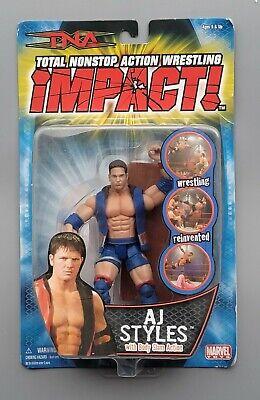 wwe tna wwf ljn classic superstars dark blue aj styles wrestling figure