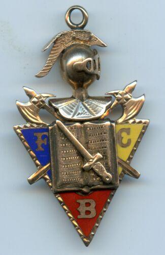 Genuine Old Knights of Pythias Secret Society Gold Charm