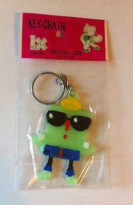 SPONGEBOB SQUAREPANTS with SUNGLASSES GLOW IN THE DARK KEYCHAIN NEW SPONGE BOB