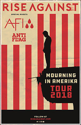 Rise Against Flag - RISE AGAINST | AFI | ANTI FLAG Mourning In America Tour 2018 Ltd Ed RARE Poster