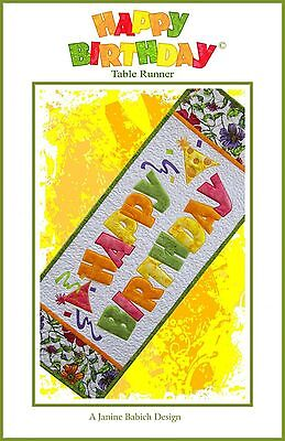 Happy Birthday Table Runner with Embroidery CD NIP (Happy Birthday Table Runner)
