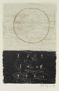 Andreas Felger: Abstrakte Komposition. Farbholzschnitt