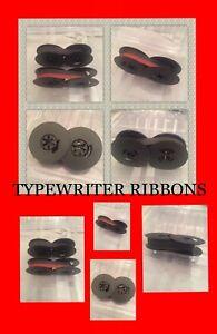 Typewriter Ribbons- Universal- Black/ Red Ink, Black Ink