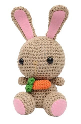 Cream Bunnies Handmade Amigurumi Stuffed Toy Knit Crochet Doll VAC