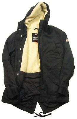 Superdry Men's Dark Navy Rookie Winter Military Sherpa Lined Hooded Parka Jacket