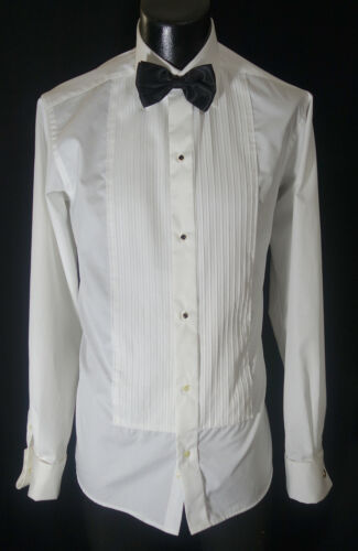 Eton Tuxedo Shirt 16-35.5 W/Tie Studs & Cufflinks Amazing Design