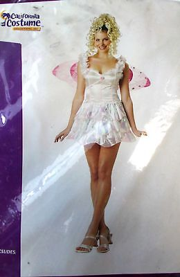 Pixie Fairy White Pink Wings Adult Costume Small Medium NIP - Adult Pink Fairy Costume