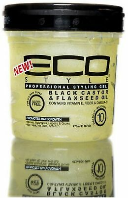 ECO Styler Black Castor - Flaxseed Oil Gel 8 oz
