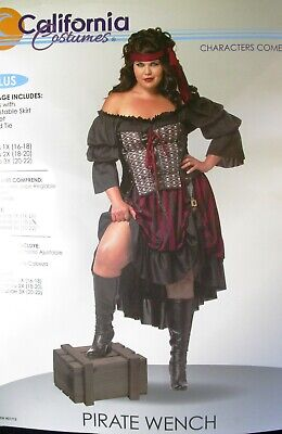 Plus Size Pirate Costume 3x (⚔ New PIRATE WENCH Halloween Costume * Plus Size 3X (20-22) * Swashbuckler )