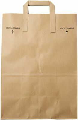 2dayship Paper Retail Grocery Bags With Handles 12 X 7 X 17 Inches 25 Count