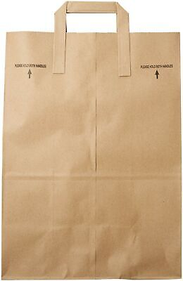 2dayShip Paper Retail Grocery Bags with Handles 12 x 7 x 17 inches, 25 Count