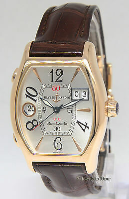 Ulysse Nardin Michelangelo UTC Dual Time 18k Rose Gold Mens Watch 226-68