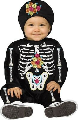 Boy Infant Halloween Costumes (Baby Day of Dead Skeleton Costume 6-12M Infant Child Kids Boys Girls)