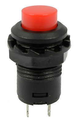 Car Truck Boat Dash Momentary Push Button Switch Black Red Button Fu