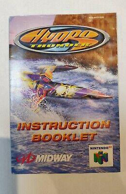 Notice Manuel Instruction Nintendo 64 N64 hydro thunder EUU