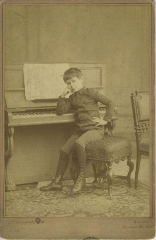 Josef HOFMANN (Piano): Early Cabinet Photograph