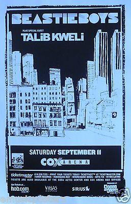 BEASTIE BOYS / TALIB KWELI 2004 SAN DIEGO CONCERT TOUR POSTER - Rap Rock Music