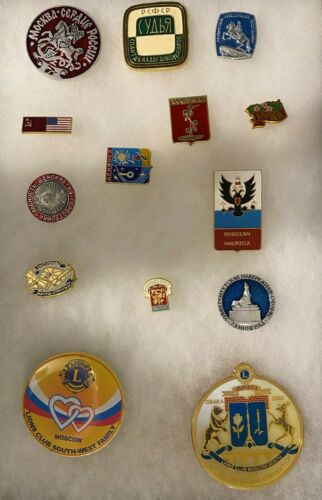 14 Lions Club international Pins Russia Moscow