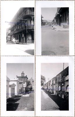 1930s New Orleans Louisiana French Quarter Cemetery Crypts Street Artist Photos