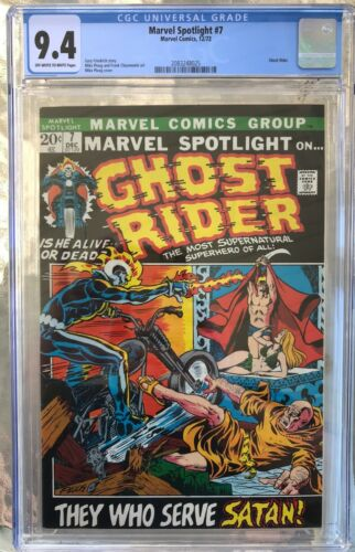 Marvel Spotlight #7 (1972) CGC 9.4 -- O/w to White pages; 3rd Ghost Rider