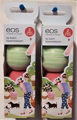 4 x Eos organisch Lippenbalsam Gurke Melone Lippenpflege