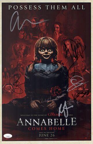 James Wan ANNABELLE COMES HOME Cast X6 Signed 11x17 Photo Autograph JSA COA