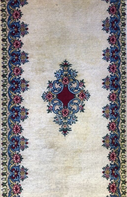 Youthful Younchi - 1960s Antique Oriental Rug - Floral Carpet - 2.10 X 6.5 Ft.