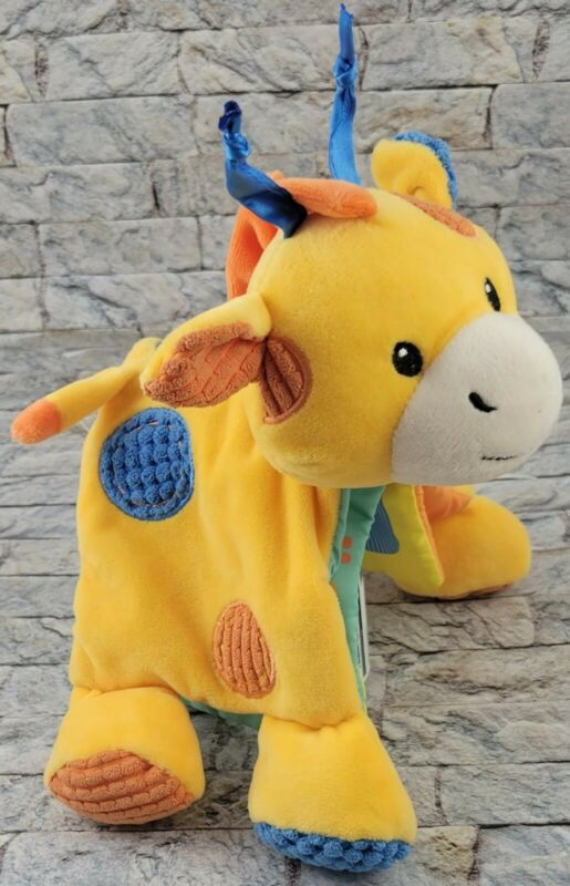 "SPARK CREATE IMAGINE Giraffe Stuffed Animal Baby RATTLE ABCs BOOK 7"" PLUSH TOY"